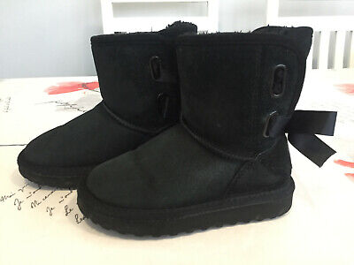 Beautiful Soulcal & Co (California) Girls Black Suede Ankle Boots - Size C10