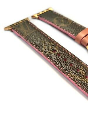 Authentic LV Apple Watch Band Strap Re-purposed Series1 2 3 38mm/40mm/42mm/44mm