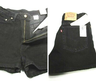 Vintage 90's NWT Women's 11 (30) Levis 512 Black Denim High Waist Shorts USA