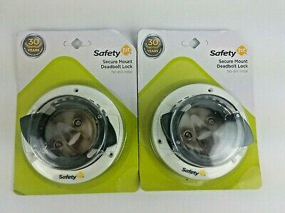 Safety 1st Secure Mount Deadbolt Lock Child Proof 2 Pack New Factory Sealed NIB