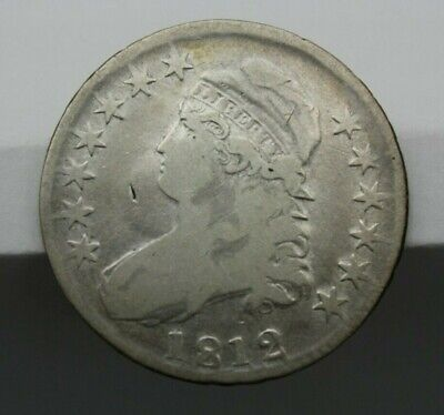 1812 Capped Bust Half Dollar Lettered Edge Very Good