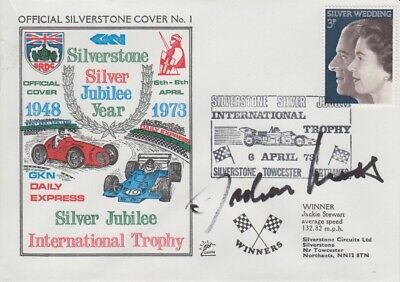 Jochen Mass Hand Signed Silverstone Silver Jubilee Year First Day Cover 5.