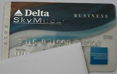 Expired 11/2009 American Express Delta Gold Business Credit Card Bank Used