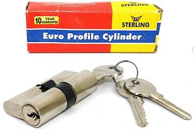 STERLING Euro Profile Double CYLINDER LOCK Nickel Plated 60mm 30/30