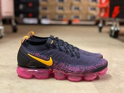 "Nike Air Vapormax Flyknit 2 ""PINK BLAST' Mens Pink/Black Shoe 942842 008 NEW Szs"