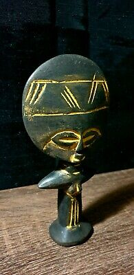 Mask African Carved Wood Tribal Wall Hand Vintage Art Wooden Face Decor  1223