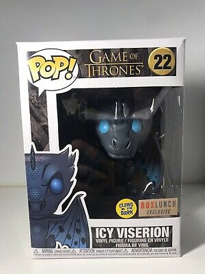 Funko Pop! Icy Viserion #22 Game of Thrones Glow in the Dark Box Lunch GITD