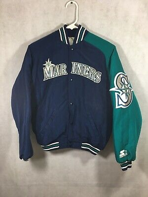 Vintage Mariners Starter Jacket Youth Medium 90's Diamond Collection Baseball
