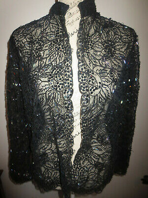 Gorgeous Vintage Sequin Beaded  Jacket  Size M/L