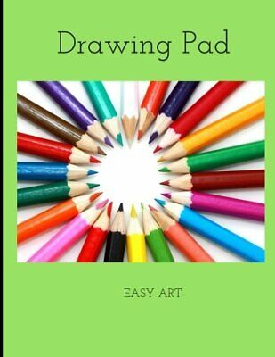 DRAWING PAD: COLOR PENCILS SKETCHBOOK, 100 BLANK PAGES, By Easy Art *BRAND NEW*