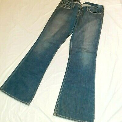 Abercrombie & Fitch Women's Jeans Size 10 Long Flare Leg Dark Wash