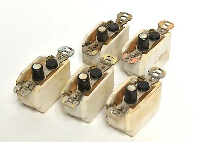 5 Vintage Perkins Push Button Electrical Light Switch Single Pole