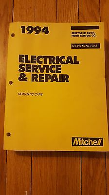 1994 Mitchell Electrical Service & Repair Manual Chrysler Ford Isbn 0847014371