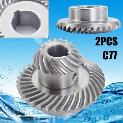 1Set (2pcs)Milling Machine Part Lifting Gear Helical Mill Gear For Bridgeport