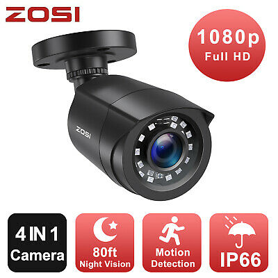 ZOSI HD 1080P 4in1 Outdoor Security Camera  2MP for Home Surveillance DVR System
