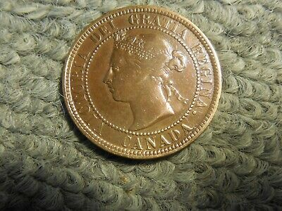 1884 Canadian Large Cent in VG condition. But you decide!!!!!!!!!!!