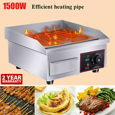 1500W Thermomate Electric Griddle Grill BBQ Hot Plate Commercial Stainless Steel