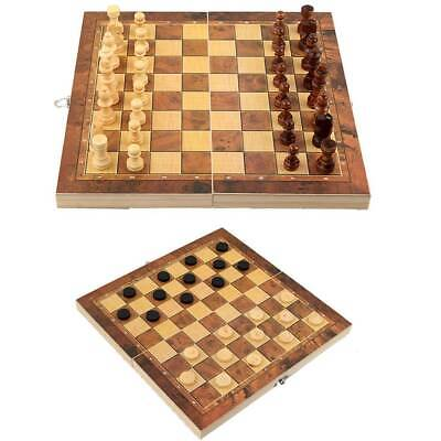 3in1 Folding Wooden Chess Set High Quality Standard Chess Set Chessboard 29*29cm
