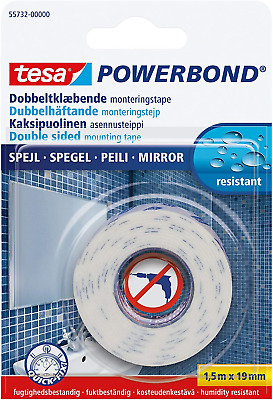 ❤ Tesa Uk Powerbond Mirror Double Sided Adhesive Tape For Use In Humid Areas 1.5