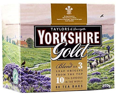 Yorkshire Gold Tea, 80 Tea Bags Pack of 5, total 400 teabags