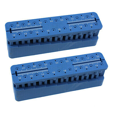 2Pcs Dental Endo Measuring Block Table Endodontic File Autoclavable Holder Ruler