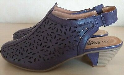 Cotton Traders Ladies Sling Back Shoes Size 4  New Without Box And Labels