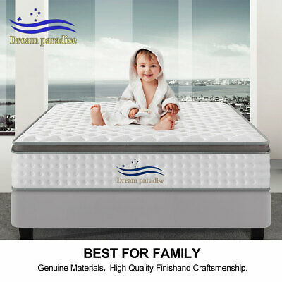 Bed Mattress Queen Double King Single Pocket Spring Firm Foam Full Size AU SHIP