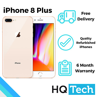 Apple iPhone 8 Plus 64GB Black Silver Gold Unlocked Pre-Owned Smartphone
