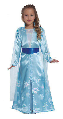 Elsa Fancy Dress Frozen Costume Girls Princess Ages 3/4/5/6/7/8/9/10/11/12
