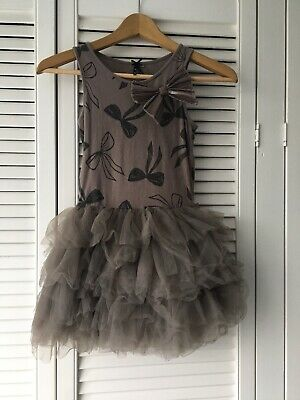 Girls Child's next Gold Brown dress Outfit age 8 years
