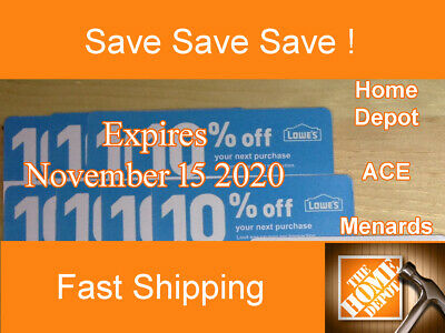 Twenty (20) Lowes 10%  for Home Depot - Expires November 15, 2020