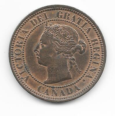1887 Canada Canadian Large Cent Penny Early Copper Coin Nice Condition