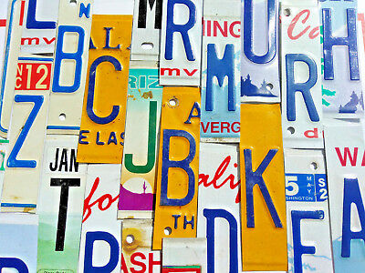 License Plate Letters and Numbers for Signs and Arts and Craft Projects