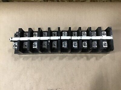 Lot Of 10 Buchanan Heavy Duty Terminal Blocks #03G78RM