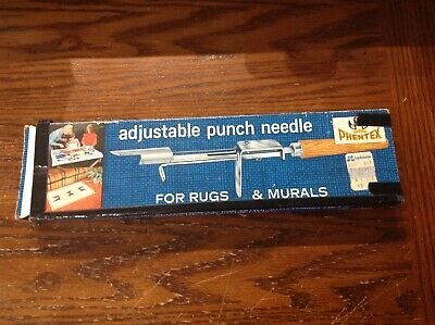 Vintage PHENTEX  ADJUSTABLE PUNCH NEEDLE For RUGS & MURALS w/ Instructions