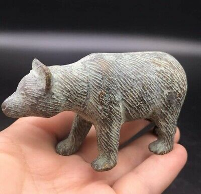 Really Antique Pice Old Roman Wild BearAnimal Bronze Statue