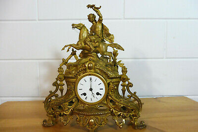 Antique French Mantel Clock Table Clock Old Clock