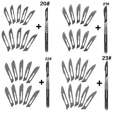 10 pc 20#-23# Carbon Steel Surgical Scalpel Blades Cutting Tool PCB Repair Knife