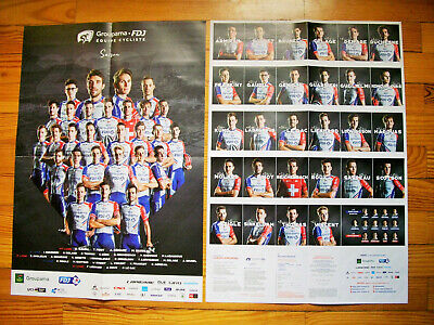 Poster équipe GROUPAMA FDJ Tour de France 2020 collection cyclisme cycling vélo
