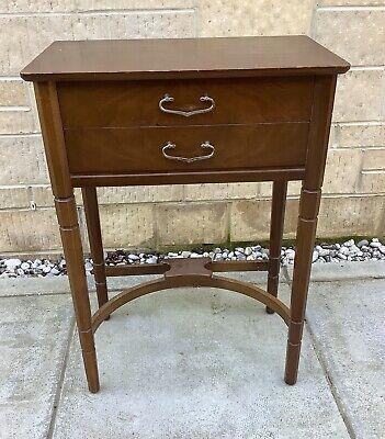 Vintage Side Lamp Table With Drawers ~ Shabby Chic Project