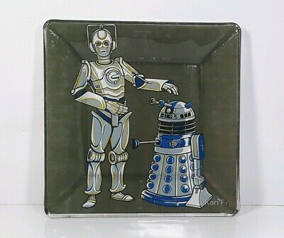Dr Who Star Wars Mashup Art Inspired Handcrafted Decorative Plate