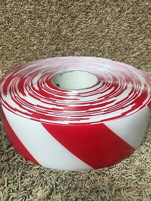 MIGHTY LINE 3RWCHVRED Ind Floor Tape,Roll,Red/White,Vinyl. 1 Pk