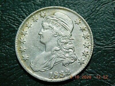 1832 Capped Bust Silver Half Dollar - Lettered Edge - Looks F!