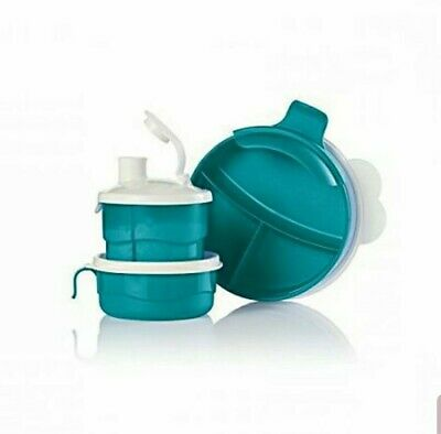 Tupperware Baby Stages Feeding Set Teal Brand New
