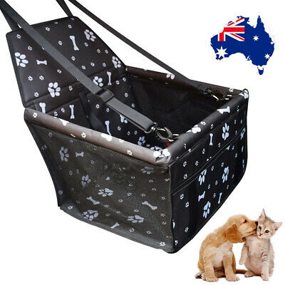 Pet Car Booster Seat Dog Foldable Safe Basket Protector Travel Carrier Puppy AU