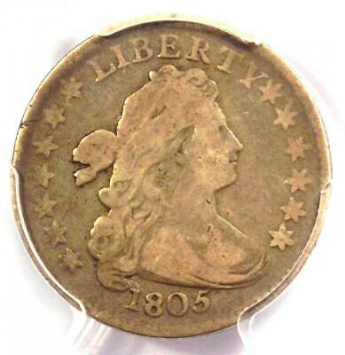 1805 Draped Bust Dime 10C - Certified PCGS VG8 (Very Good) - Rare Coin!