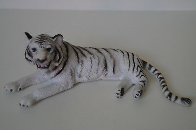 Schleich Fremdserie AAA White Tiger Lying down Game Life Zoo Animals