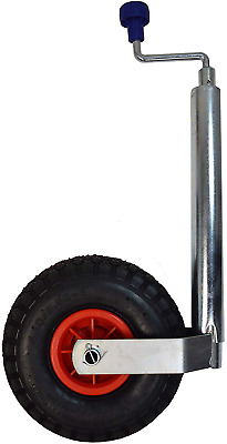 Maypole 48mm Jockey Wheel & Pneumatic Clamp Vehicle Trailer Caravan Stabilizer