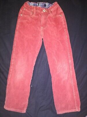 VGC Boys MINI BODEN Red Corderoy Trousers Like Jeans 6-7 Years