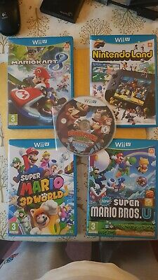 5x Wii U Games PAL includes Mario Kart 8, Donkey Kong Bundle, Collection, Joblot